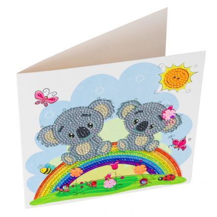 Crystal Art D.I.Y Koala card kit